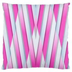 Geometric 3d Design Pattern Pink Large Flano Cushion Case (two Sides)