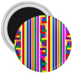 Rainbow Geometric Design Spectrum 3  Magnets