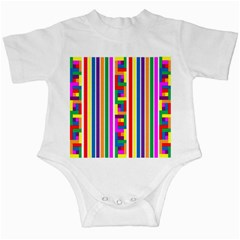 Rainbow Geometric Design Spectrum Infant Creepers
