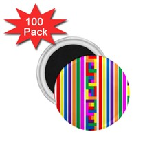 Rainbow Geometric Design Spectrum 1 75  Magnets (100 Pack)