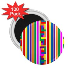 Rainbow Geometric Design Spectrum 2 25  Magnets (100 Pack)