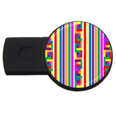 Rainbow Geometric Design Spectrum Usb Flash Drive Round (2 Gb)