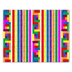 Rainbow Geometric Design Spectrum Rectangular Jigsaw Puzzl