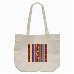 Rainbow Geometric Design Spectrum Tote Bag (cream)
