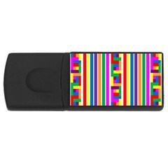 Rainbow Geometric Design Spectrum Rectangular Usb Flash Drive
