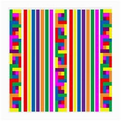 Rainbow Geometric Design Spectrum Medium Glasses Cloth