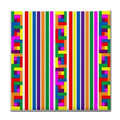 Rainbow Geometric Design Spectrum Face Towel