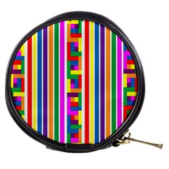 Rainbow Geometric Design Spectrum Mini Makeup Bags