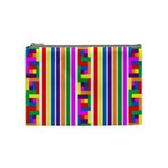 Rainbow Geometric Design Spectrum Cosmetic Bag (medium)