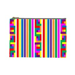 Rainbow Geometric Design Spectrum Cosmetic Bag (large)