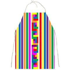 Rainbow Geometric Design Spectrum Full Print Aprons