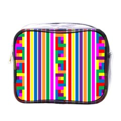 Rainbow Geometric Design Spectrum Mini Toiletries Bags