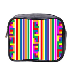 Rainbow Geometric Design Spectrum Mini Toiletries Bag 2 Side
