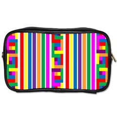 Rainbow Geometric Design Spectrum Toiletries Bags