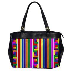 Rainbow Geometric Design Spectrum Office Handbags