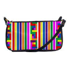 Rainbow Geometric Design Spectrum Shoulder Clutch Bags