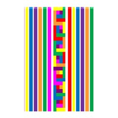 Rainbow Geometric Design Spectrum Shower Curtain 48  X 72  (small)