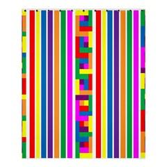 Rainbow Geometric Design Spectrum Shower Curtain 60  X 72  (medium)