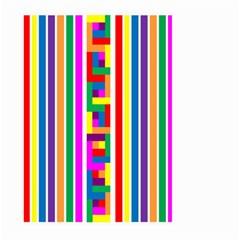 Rainbow Geometric Design Spectrum Large Garden Flag (two Sides)