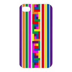 Rainbow Geometric Design Spectrum Apple Iphone 4/4s Premium Hardshell Case