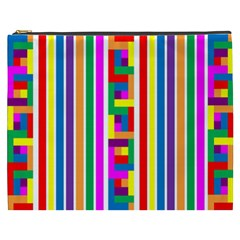 Rainbow Geometric Design Spectrum Cosmetic Bag (xxxl)