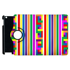 Rainbow Geometric Design Spectrum Apple Ipad 3/4 Flip 360 Case