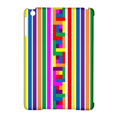 Rainbow Geometric Design Spectrum Apple Ipad Mini Hardshell Case (compatible With Smart Cover)