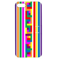 Rainbow Geometric Design Spectrum Apple Iphone 5 Hardshell Case With Stand by Nexatart