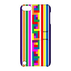 Rainbow Geometric Design Spectrum Apple Ipod Touch 5 Hardshell Case With Stand