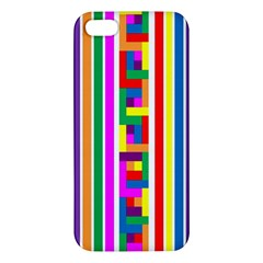 Rainbow Geometric Design Spectrum Apple Iphone 5 Premium Hardshell Case