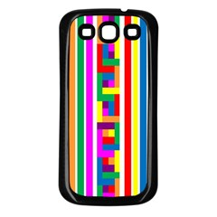Rainbow Geometric Design Spectrum Samsung Galaxy S3 Back Case (black)