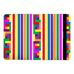 Rainbow Geometric Design Spectrum Samsung Galaxy Tab Pro 10 1  Flip Case