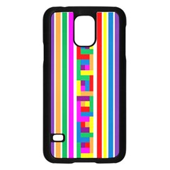 Rainbow Geometric Design Spectrum Samsung Galaxy S5 Case (black)