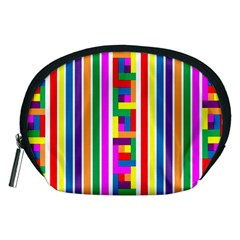 Rainbow Geometric Design Spectrum Accessory Pouches (medium)