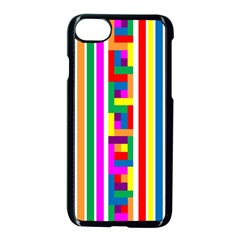 Rainbow Geometric Design Spectrum Apple Iphone 7 Seamless Case (black)