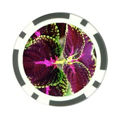 Plant Purple Green Leaves Garden Poker Chip Card Guard (10 Pack)
