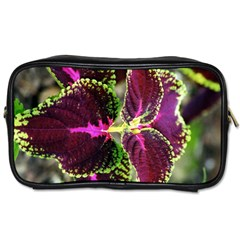 Plant Purple Green Leaves Garden Toiletries Bags 2 Side