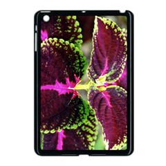 Plant Purple Green Leaves Garden Apple Ipad Mini Case (black)