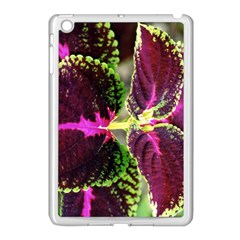 Plant Purple Green Leaves Garden Apple Ipad Mini Case (white)