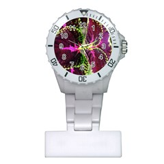 Plant Purple Green Leaves Garden Plastic Nurses Watch