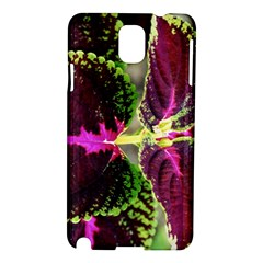 Plant Purple Green Leaves Garden Samsung Galaxy Note 3 N9005 Hardshell Case by Nexatart
