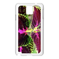 Plant Purple Green Leaves Garden Samsung Galaxy Note 3 N9005 Case (white)