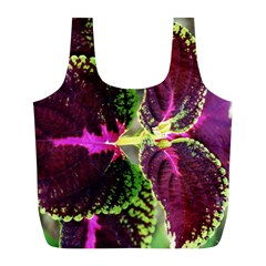 Plant Purple Green Leaves Garden Full Print Recycle Bags (l)
