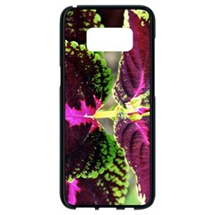 Plant Purple Green Leaves Garden Samsung Galaxy S8 Black Seamless Case