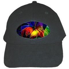 Fractal Pattern Abstract Chaos Black Cap