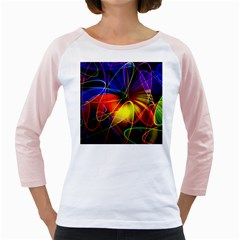Fractal Pattern Abstract Chaos Girly Raglans
