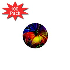 Fractal Pattern Abstract Chaos 1  Mini Buttons (100 Pack)