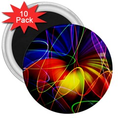 Fractal Pattern Abstract Chaos 3  Magnets (10 Pack)