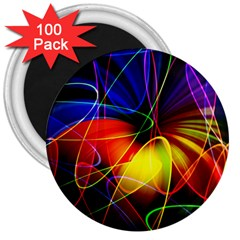 Fractal Pattern Abstract Chaos 3  Magnets (100 Pack)