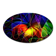 Fractal Pattern Abstract Chaos Oval Magnet